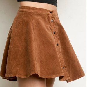 Brandy Melville Faux Suede Button Mini Skirt NWT